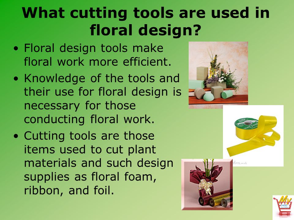 What cutting tools are used in floral design.1.