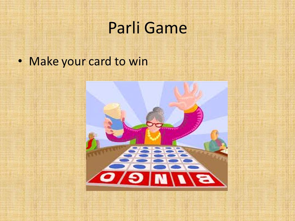 Parli Game Make your card to win