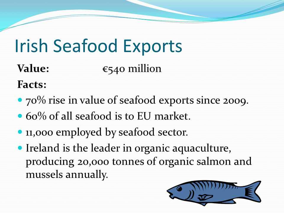 Irish Prepared Foods Exports Value: €1.8 billion Definition: Prepared foods include baked goods, confectionary, snacks, chilled food, ready meals and cooked meats.