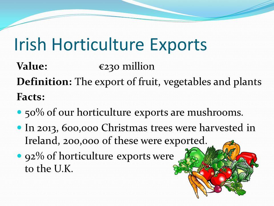 Irish Dairy Exports Value: €3.06 billion Top 5 exports to: U.K.