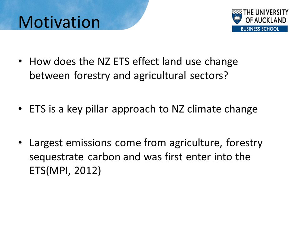 Model Base year: 2007 Steady-state forestry model links to the CGE NZ—small open economy 12 sectors, 5 types of land, factors (labor, capital) are mobile among sectors, land is mobile among 5 land- used sectors, joint production one household, government, enterprise, investment- savings, rest of world Four carbon tax scenarios ($0, $25, $50, $100)