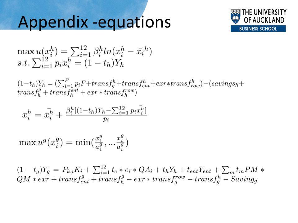 Appendix -equations
