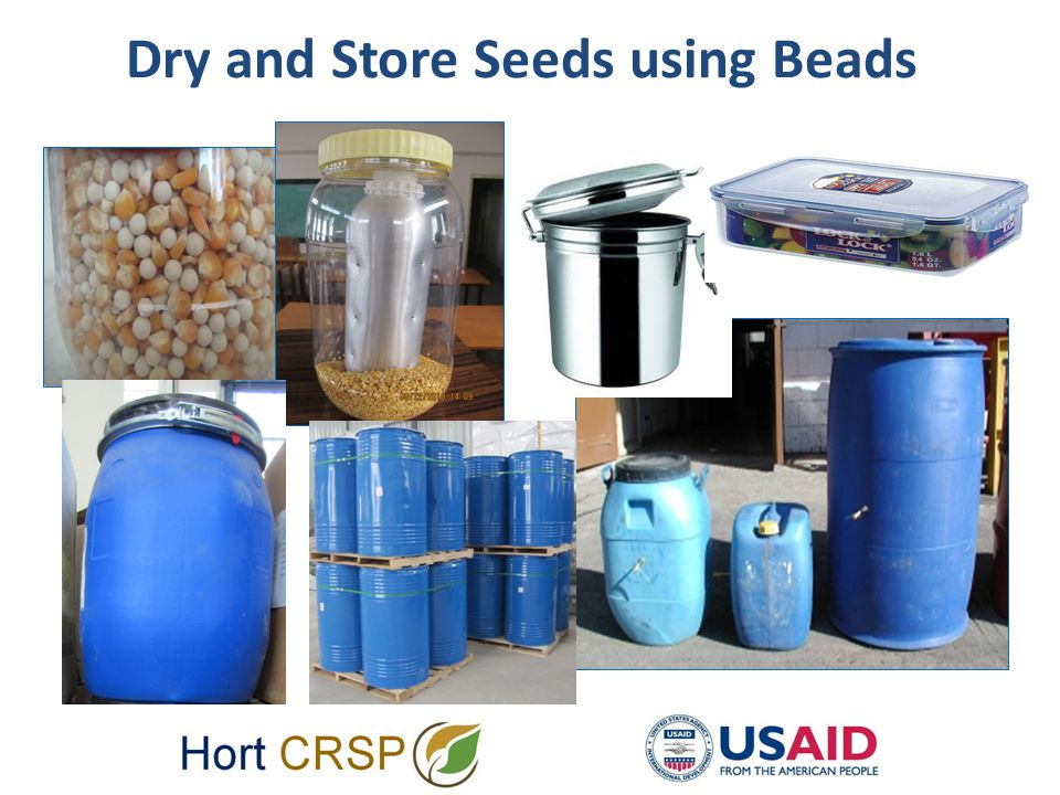 Dry and Store Seeds using Beads