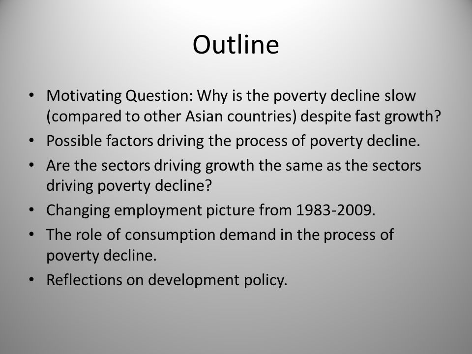 Poverty Decline in India