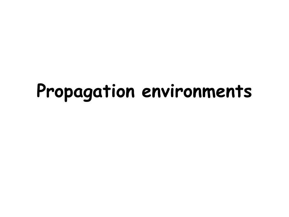 Propagation environments