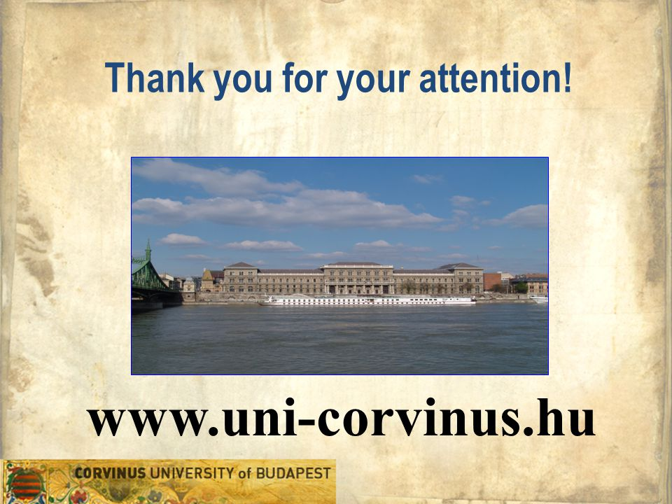 www.uni-corvinus.hu Thank you for your attention!