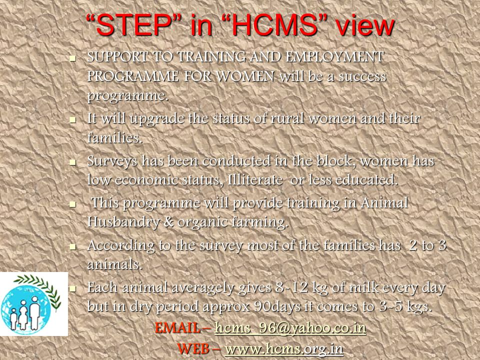 STEP in HCMS view SUPPORT TO TRAINING AND EMPLOYMENT PROGRAMME FOR WOMEN will be a success programme.