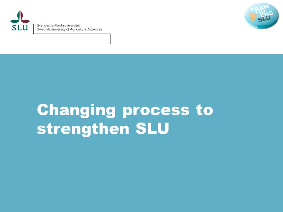 Changing process to strengthen SLU