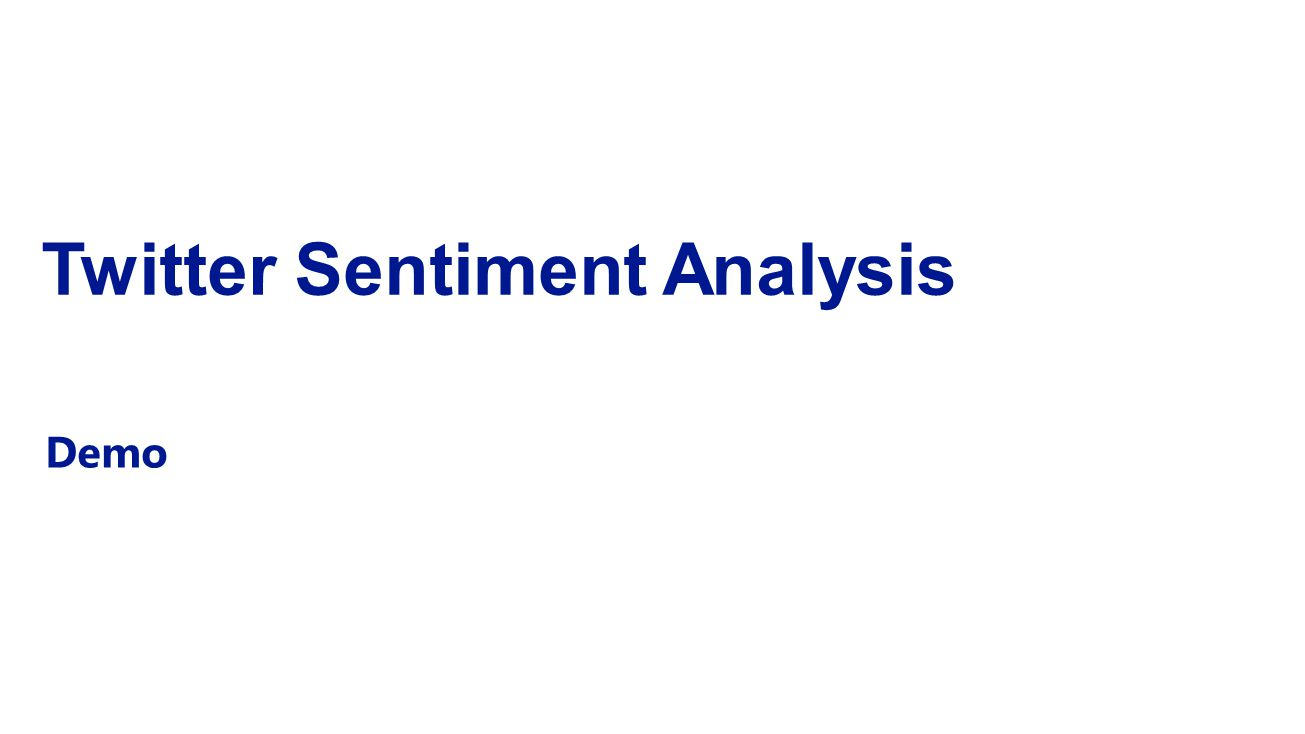 Twitter Sentiment Analysis Demo