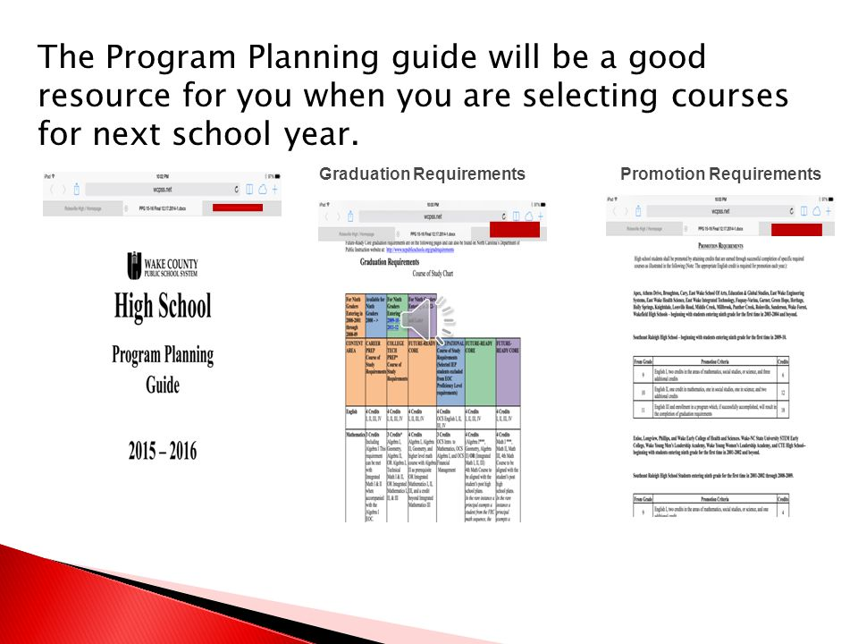 Please take time to review the course selections offered next school year.
