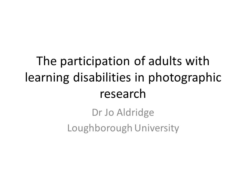Success of the method People with learning difficulties can demonstrate their skills (as photographers) Mixed approaches (participation, elicitation) can overcome interpretative challenges Participants enjoyed the process and visual approaches adopted by project workers