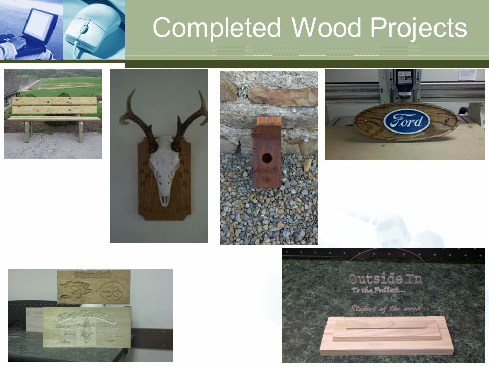 Completed Wood Projects