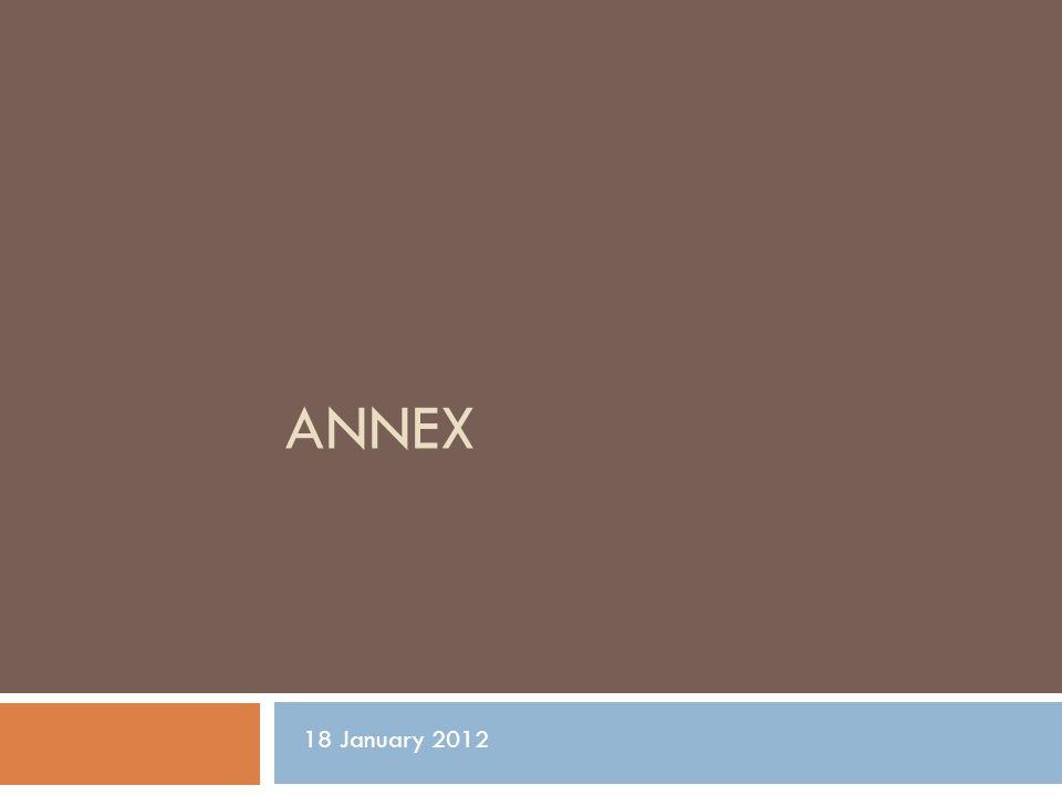 ANNEX 18 January 2012