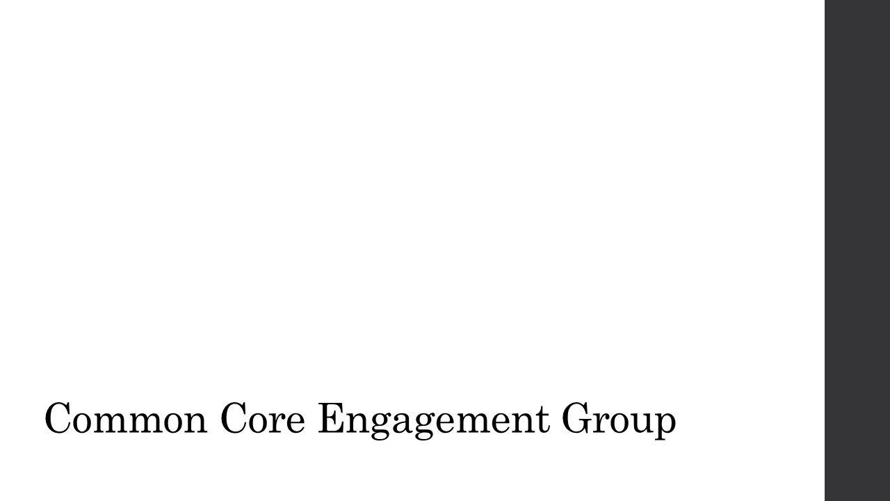 Common Core Engagement Group