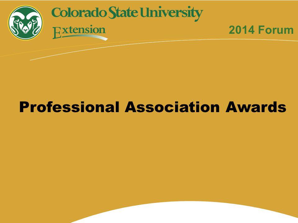 Professional Association Awards 2014 Forum