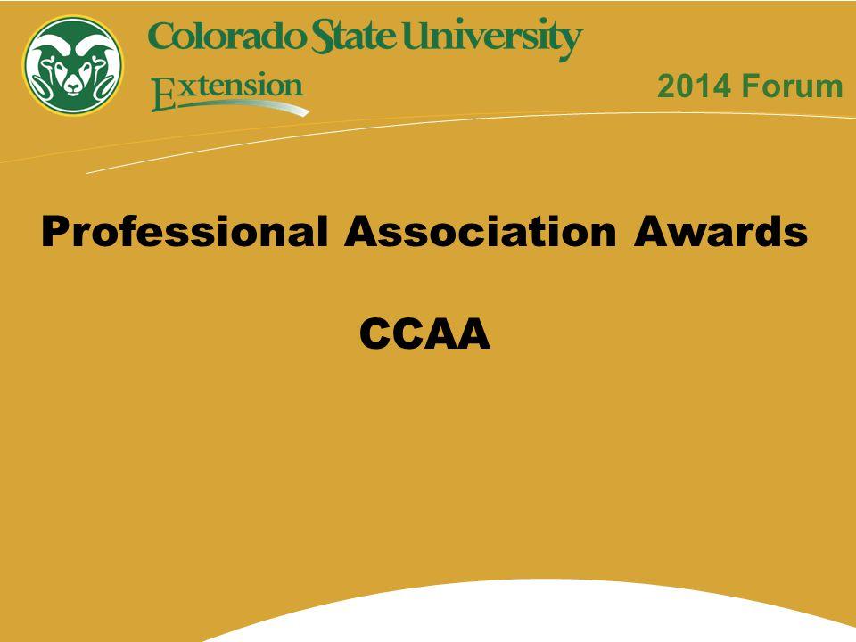 Professional Association Awards CCAA 2014 Forum