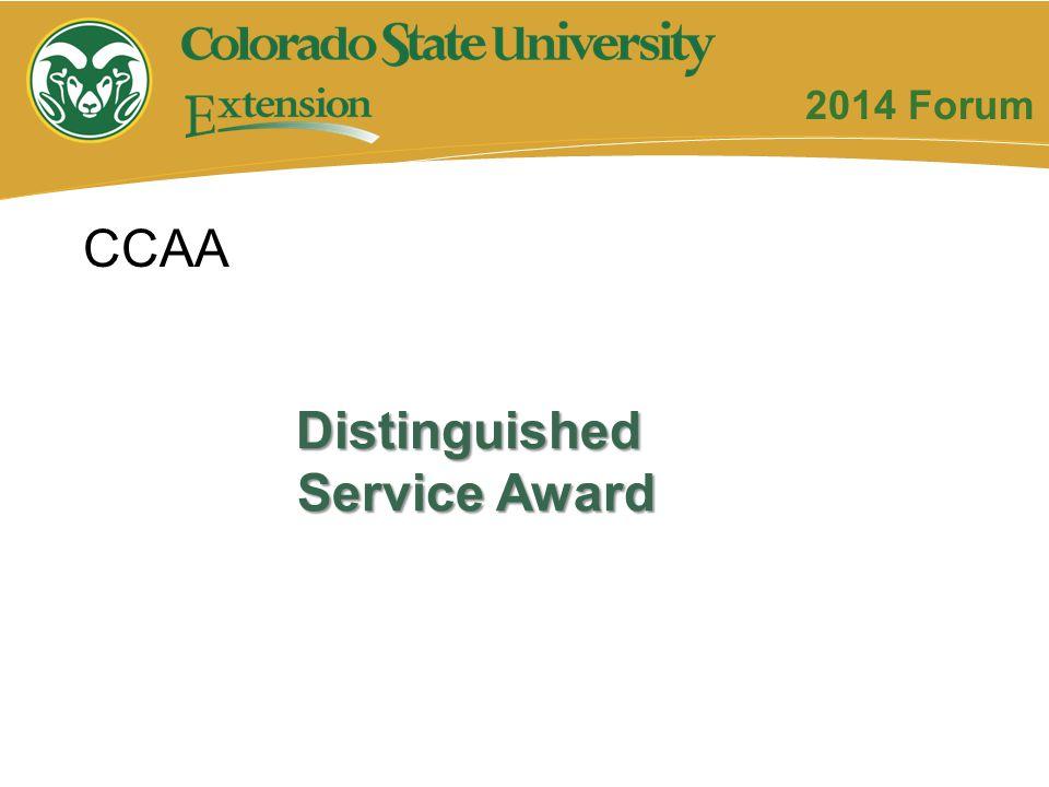 Distinguished Service Award CCAA 2014 Forum