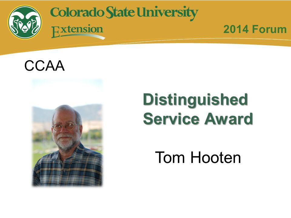 Distinguished Service Award Tom Hooten CCAA 2014 Forum