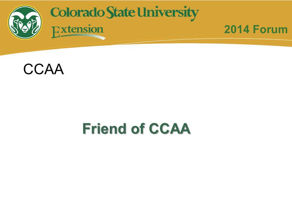 Friend of CCAA CCAA 2014 Forum