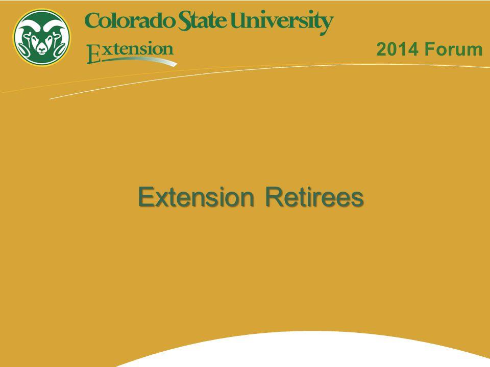 Extension Retirees 2014 Forum