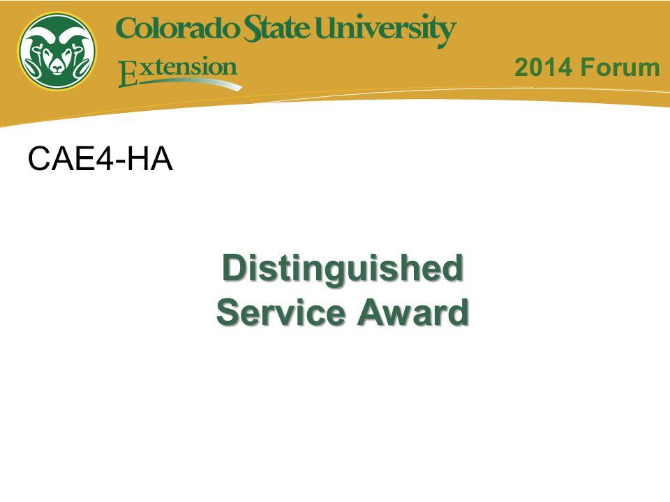 Distinguished Service Award CAE4-HA