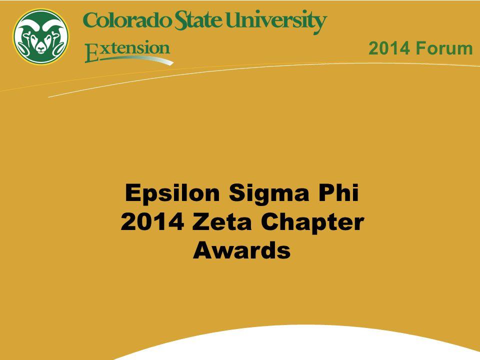 Epsilon Sigma Phi 2014 Zeta Chapter Awards 2014 Forum