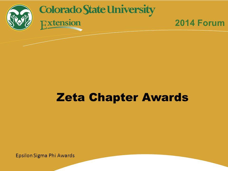 Zeta Chapter Awards Epsilon Sigma Phi Awards 2014 Forum