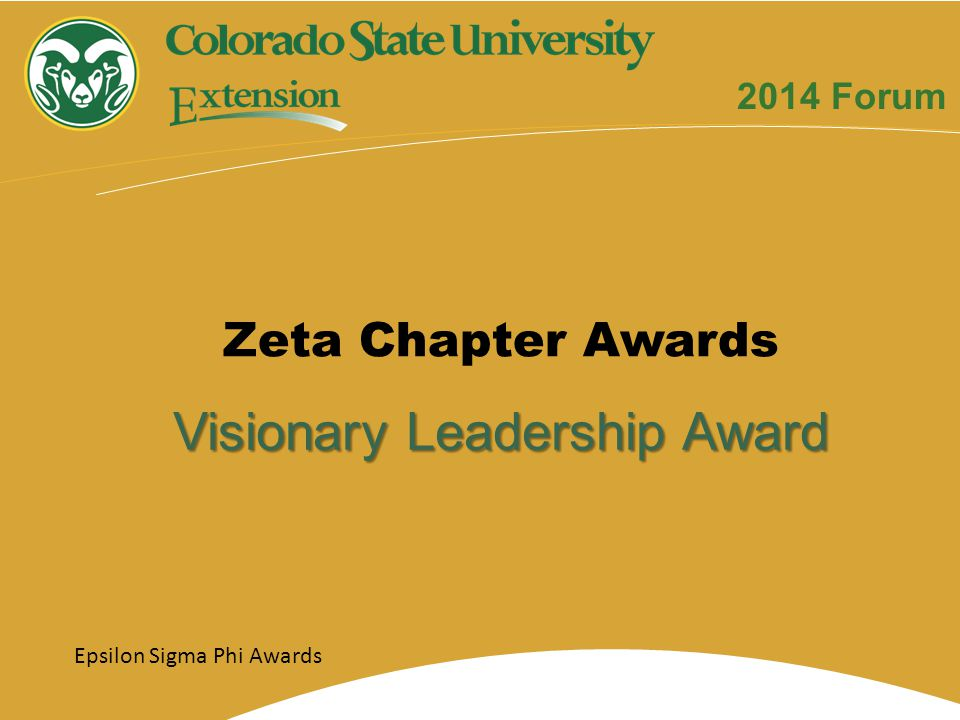 Visionary Leadership Award Zeta Chapter Awards Epsilon Sigma Phi Awards 2014 Forum