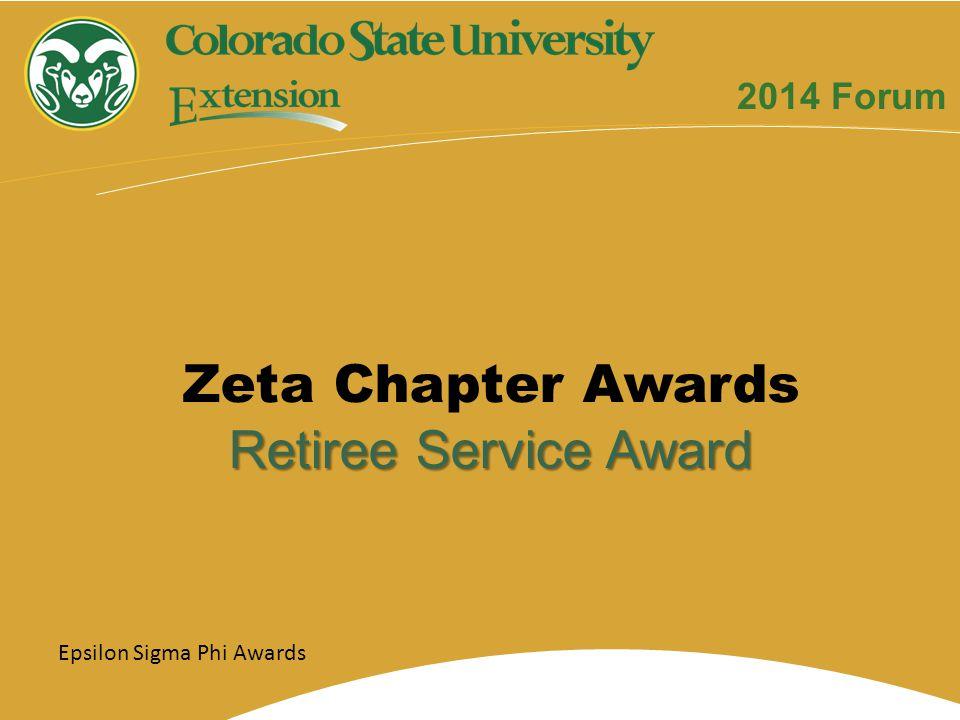 Epsilon Sigma Phi Awards Zeta Chapter Awards Retiree Service Award 2014 Forum