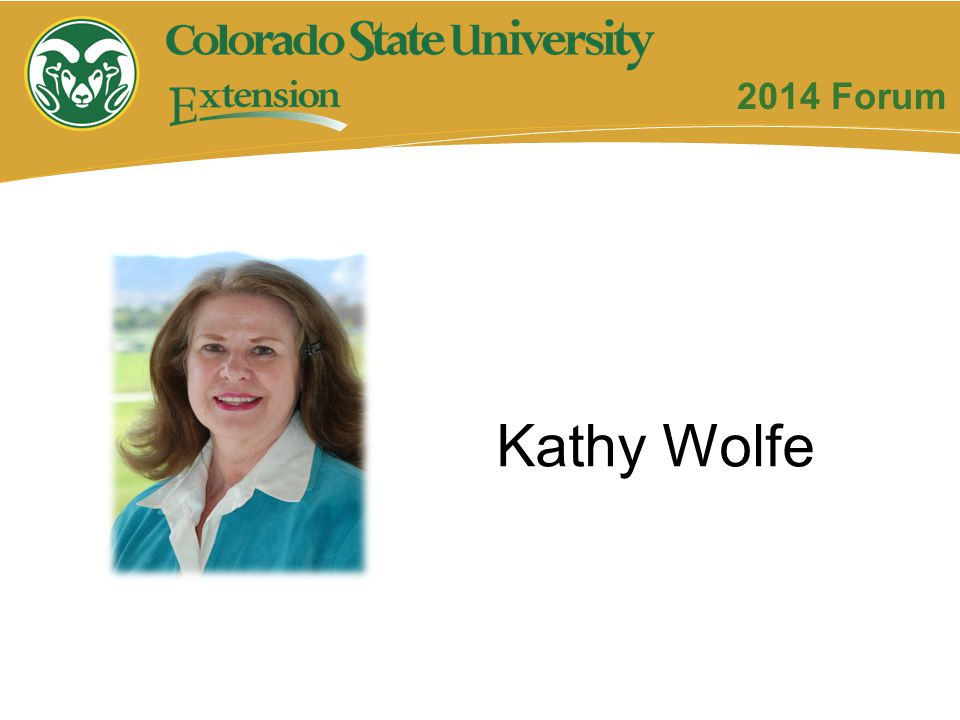 2014 Forum Kathy Wolfe