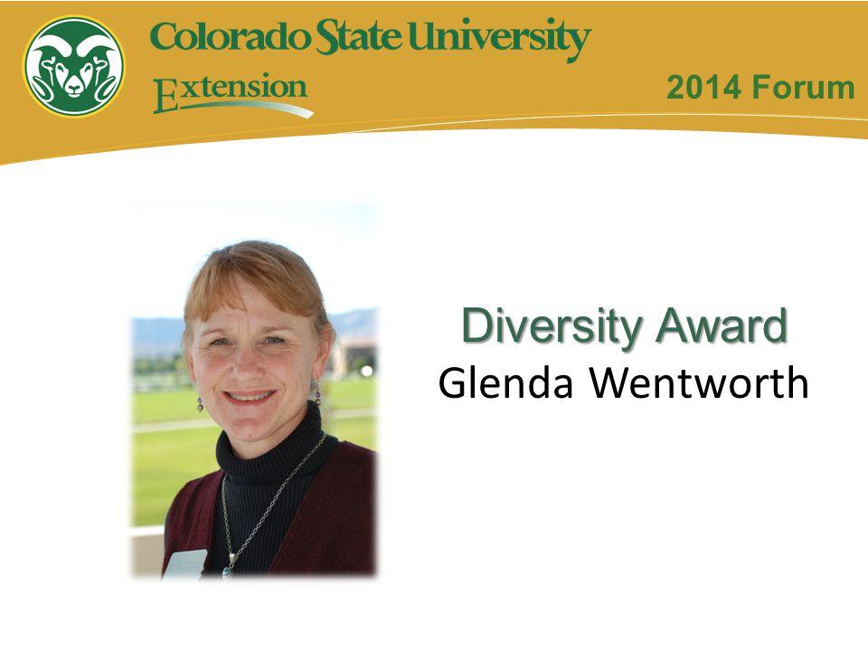 Diversity Award Glenda Wentworth 2014 Forum