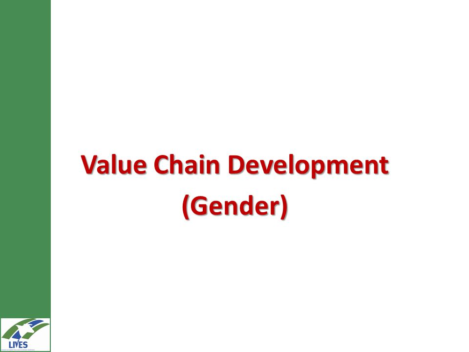 Value Chain Development (Gender)