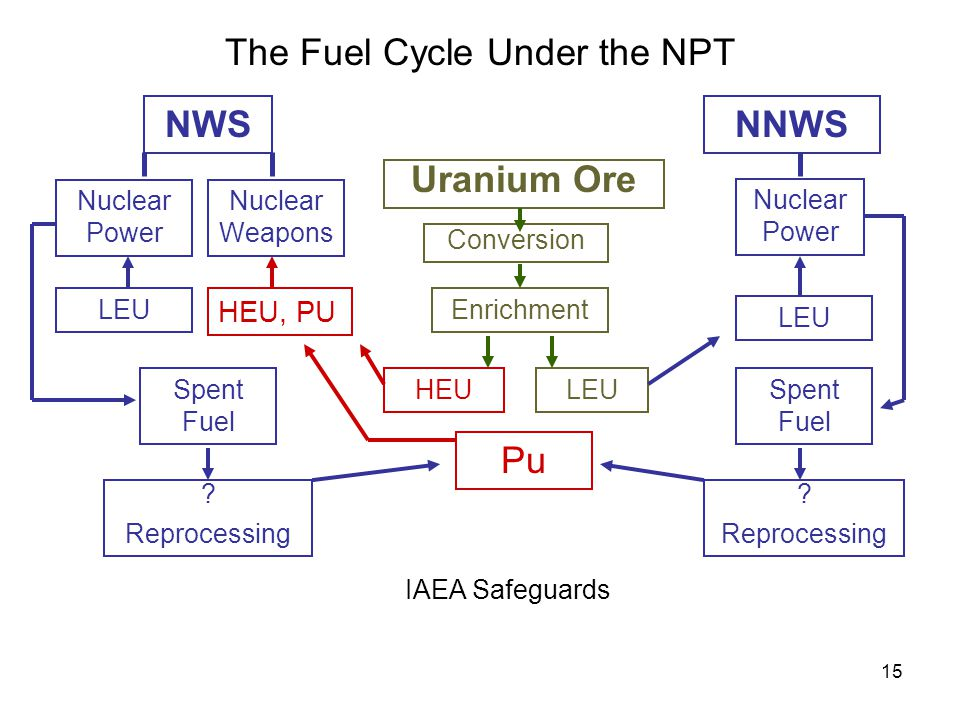 15 NWSNNWS Conversion Nuclear Power Nuclear Weapons Nuclear Power Enrichment Spent Fuel LEU .