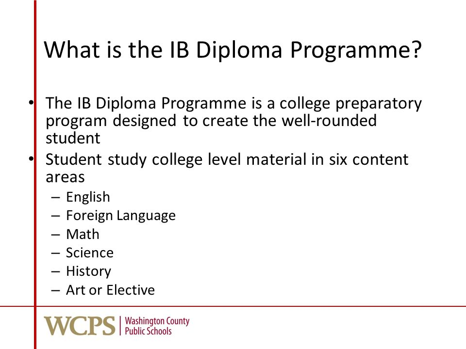 What is the IB Diploma Programme.