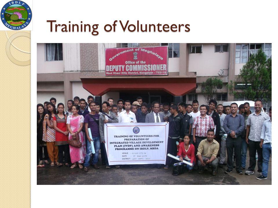 Training of Volunteers