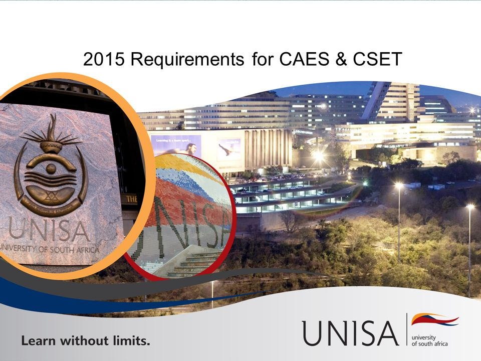 2015 Requirements for CAES & CSET