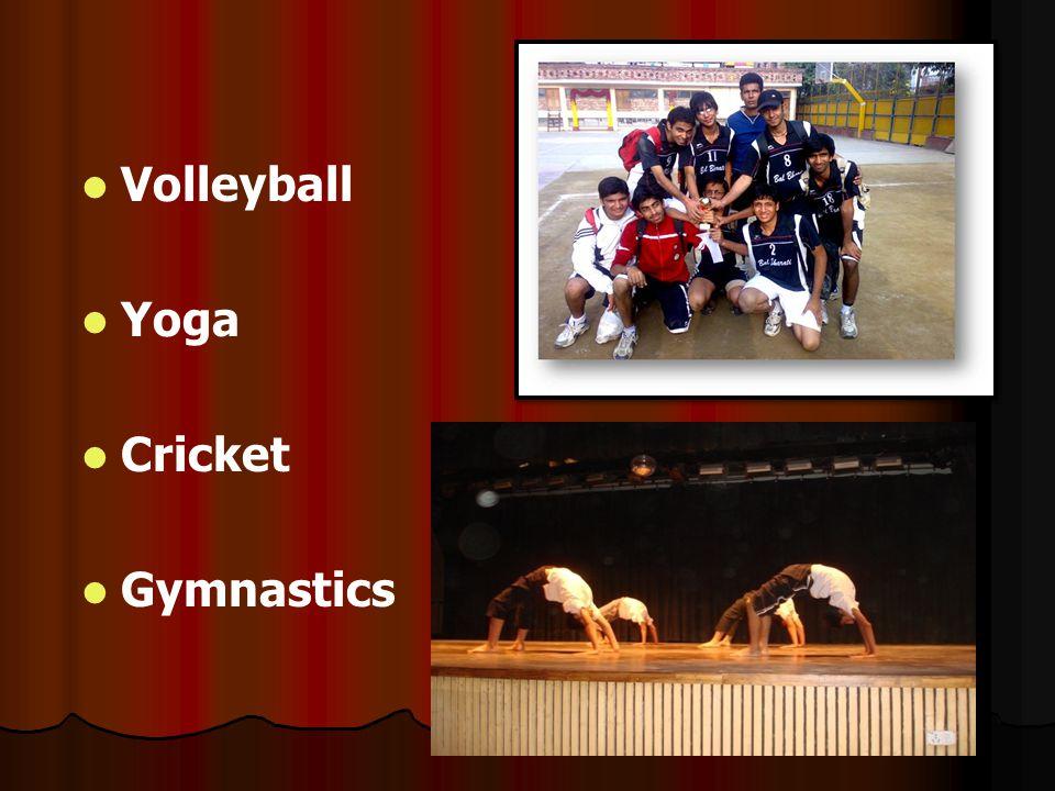 Volleyball Yoga Cricket Gymnastics