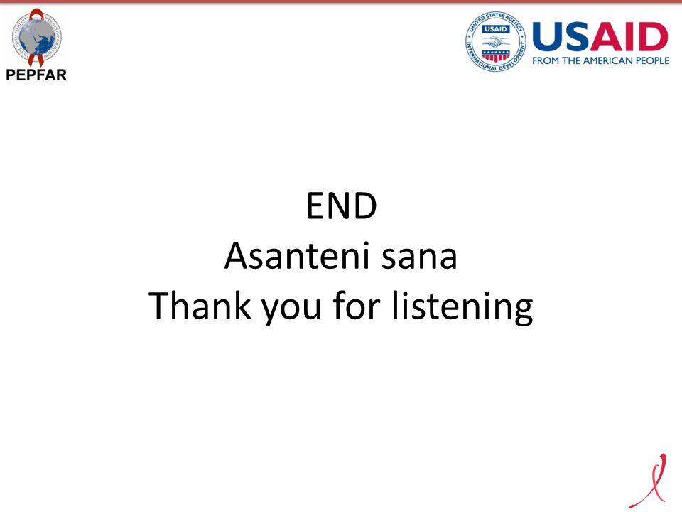 END Asanteni sana Thank you for listening