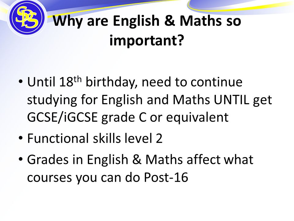 Why are English & Maths so important.
