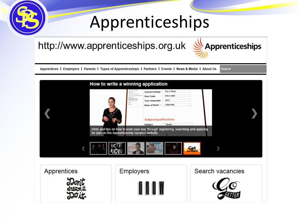 Apprenticeships http://www.apprenticeships.org.uk
