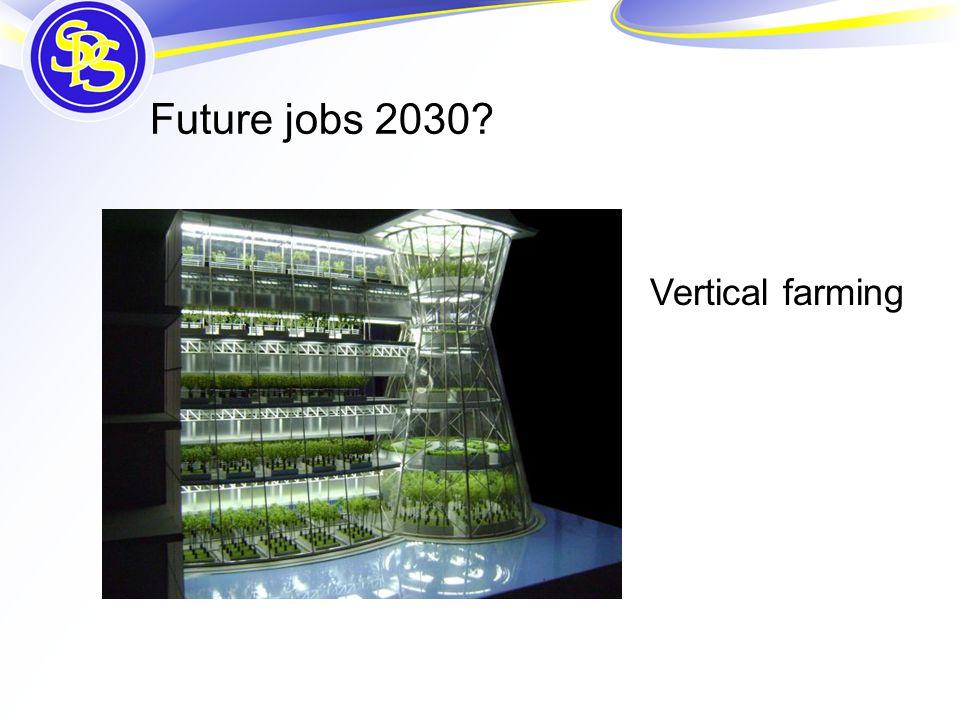 Future jobs 2030 Vertical farming