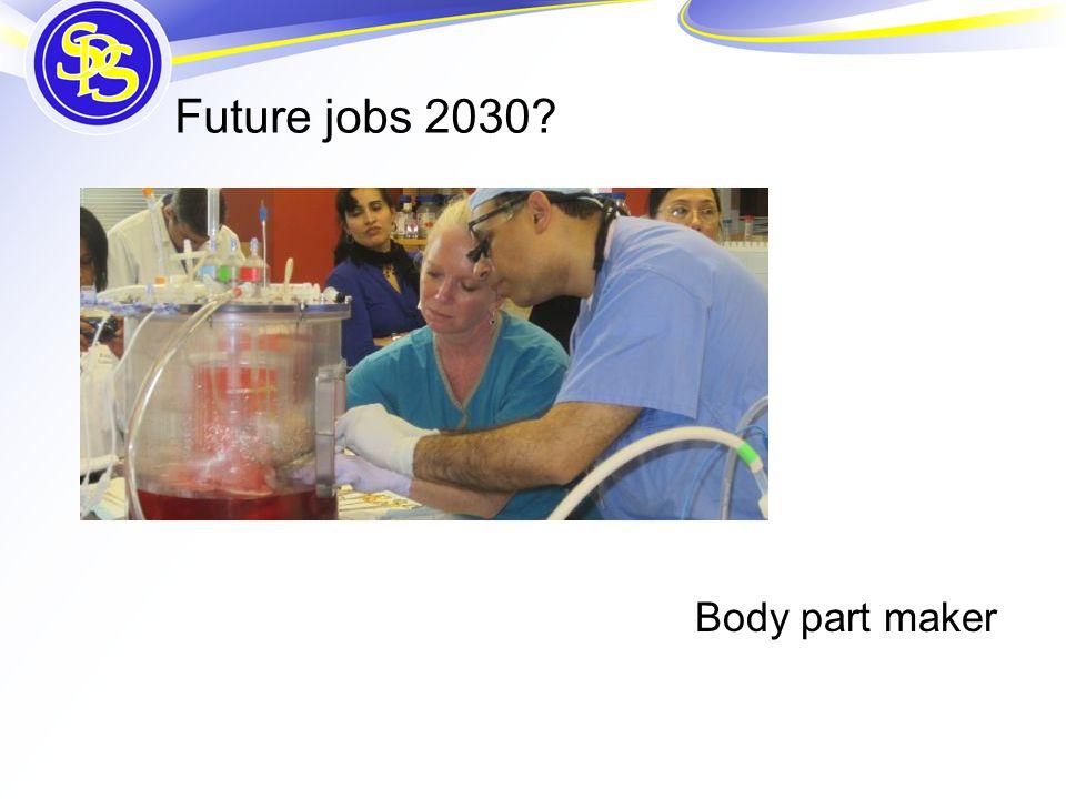 Future jobs 2030 Body part maker