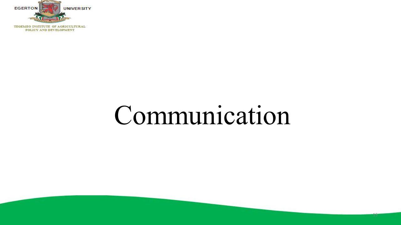 Communication 15