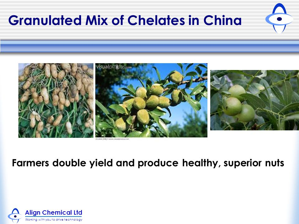 Align Chemical Ltd Working with you to drive technology Granulated Mix of Chelates in China Farmers double yield and produce healthy, superior nuts