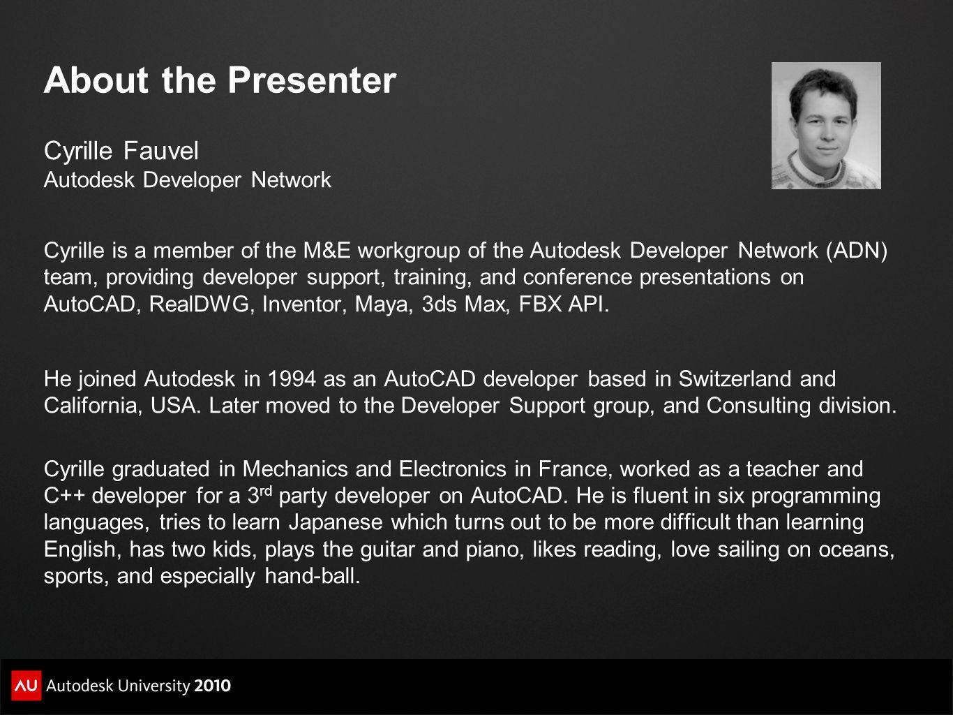 A concrete example Modify the default AutoCAD behavior