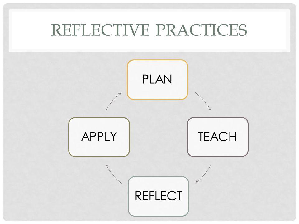 REFLECTIVE PRACTICES PLANTEACHREFLECTAPPLY