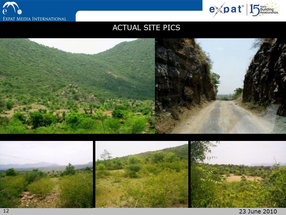 12 23 June 2010 ACTUAL SITE PICS
