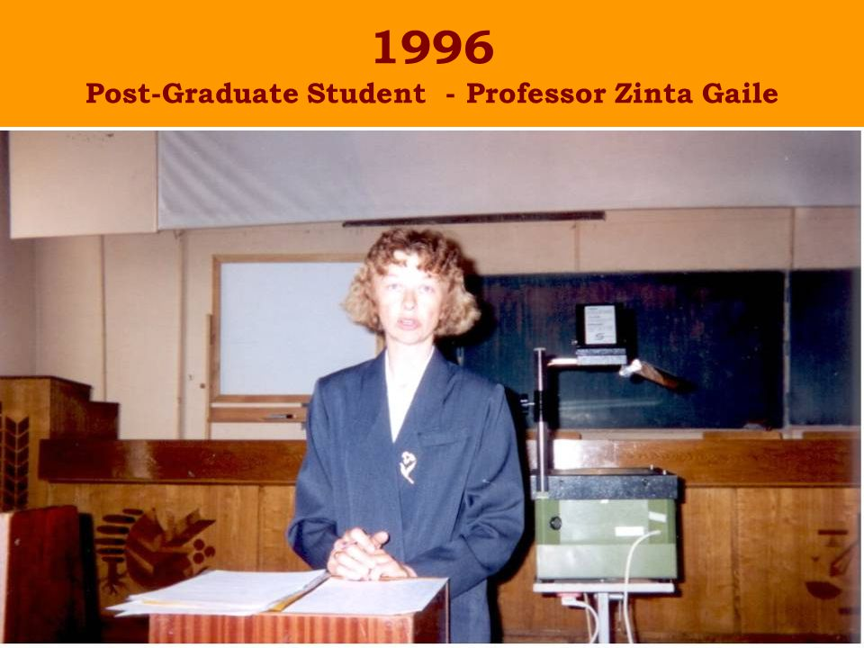 1996 Post-Graduate Student - Professor Zinta Gaile