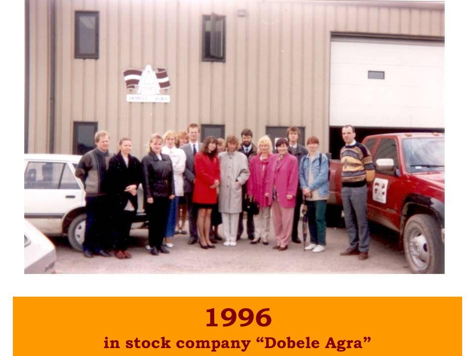 1996 in stock company Dobele Agra