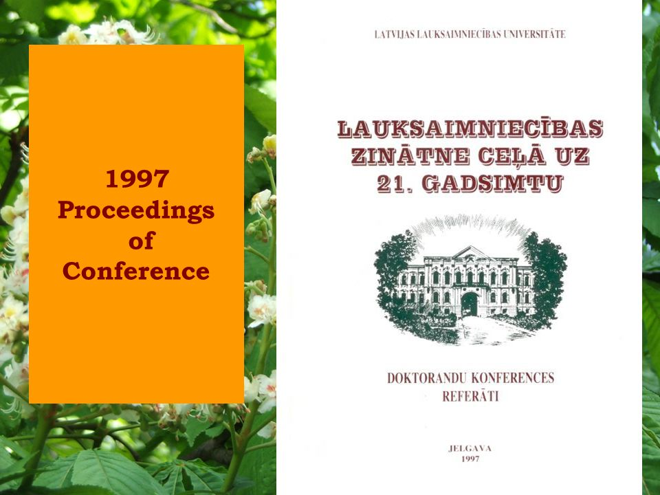 1997 Proceedings of Conference